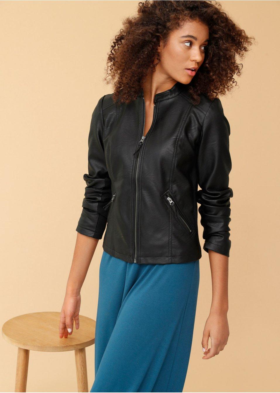taillierte jacke schwarz kurz