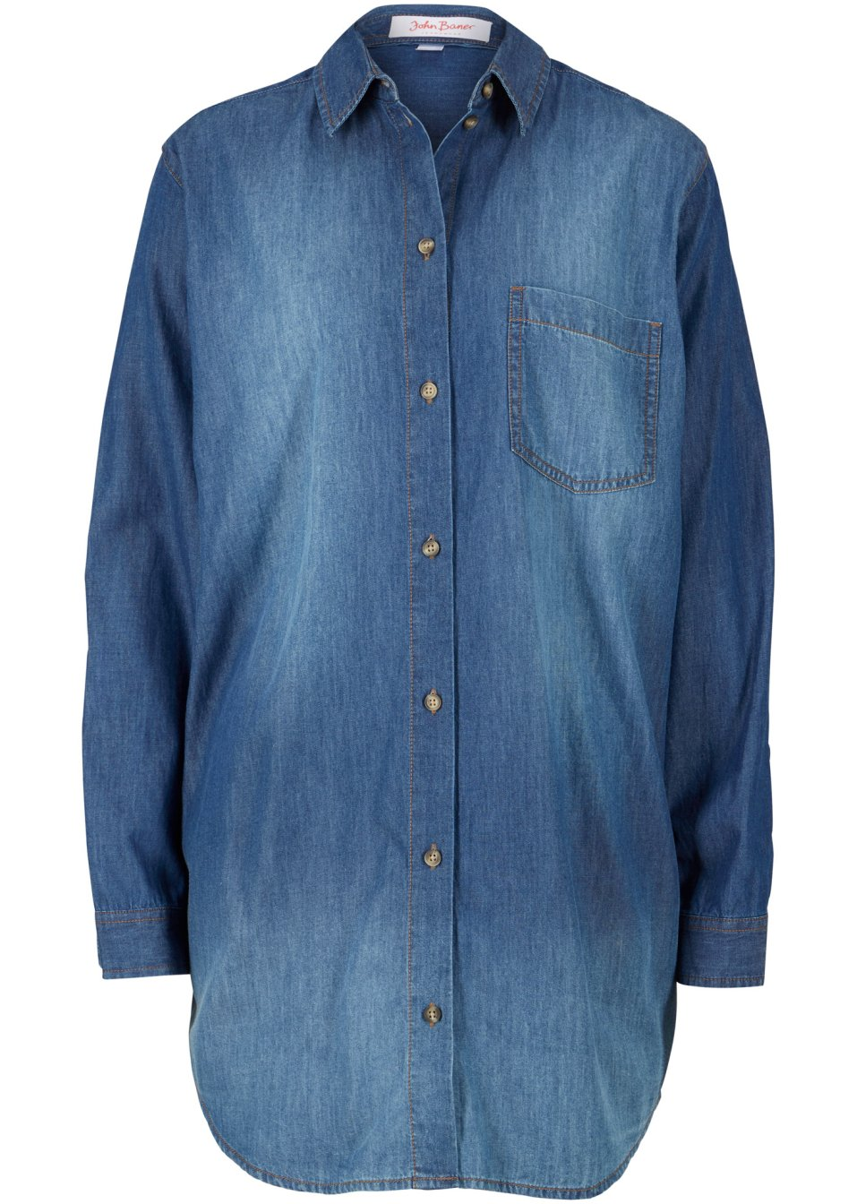 Jeansbluse extralang geschnitten blau - John Baner JEANSWEAR online kaufen - bonprix.de MH8hH nzXfQ