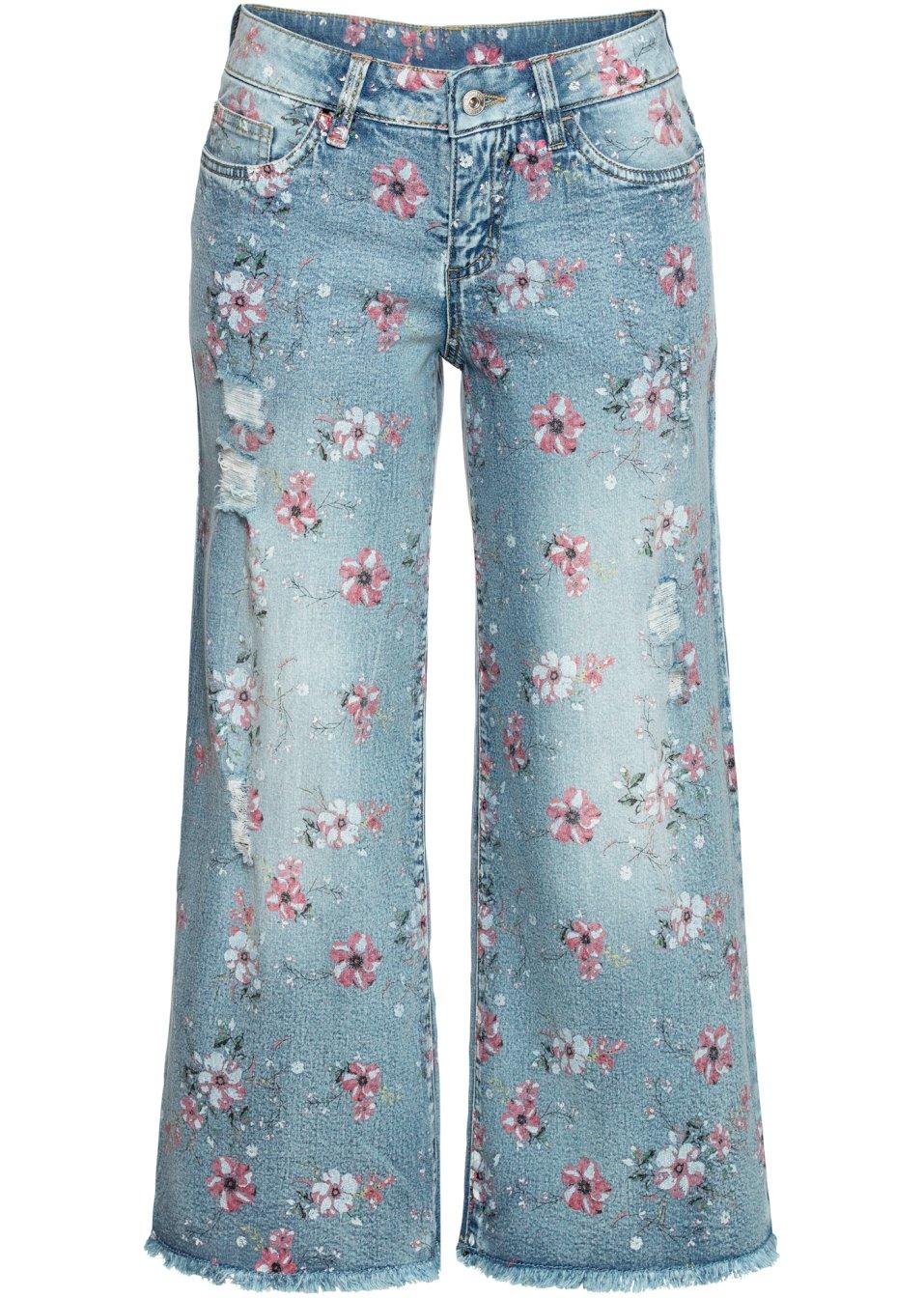 Culotte-Jeans blue bleached - Damen - RAINBOW - bonprix.de cj78X 8HtCE