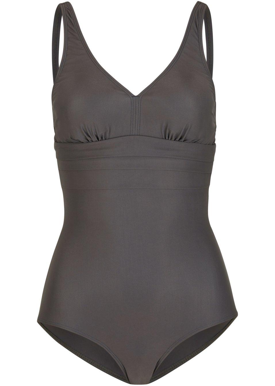 Schöner Badeanzug aus figurformendem Material - dunkelbraun 1SH05 glVOz