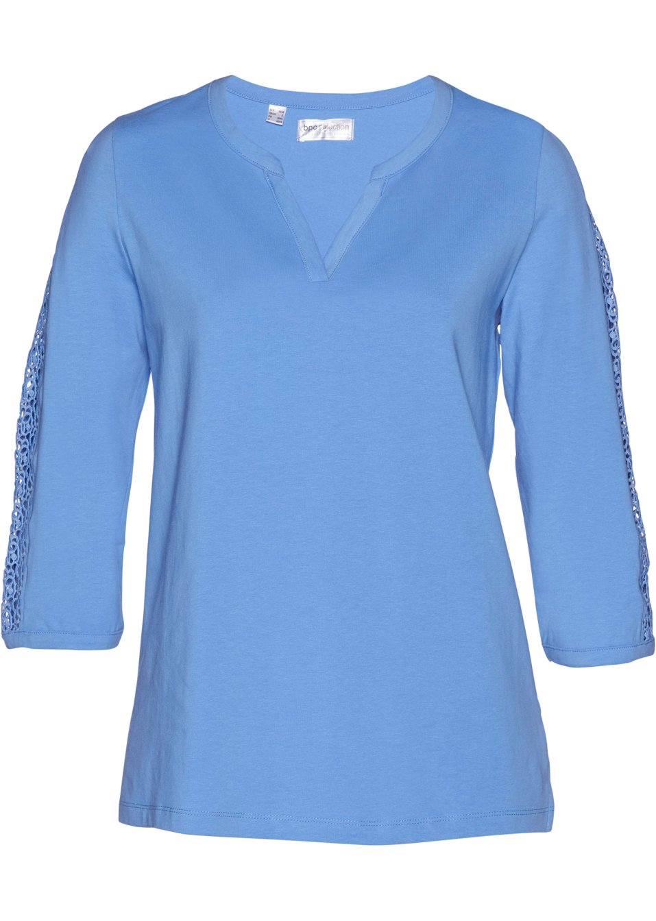 3/4-A-Shirt mittelblau - bpc selection premium - bonprix.de Ng2uv d2rAR