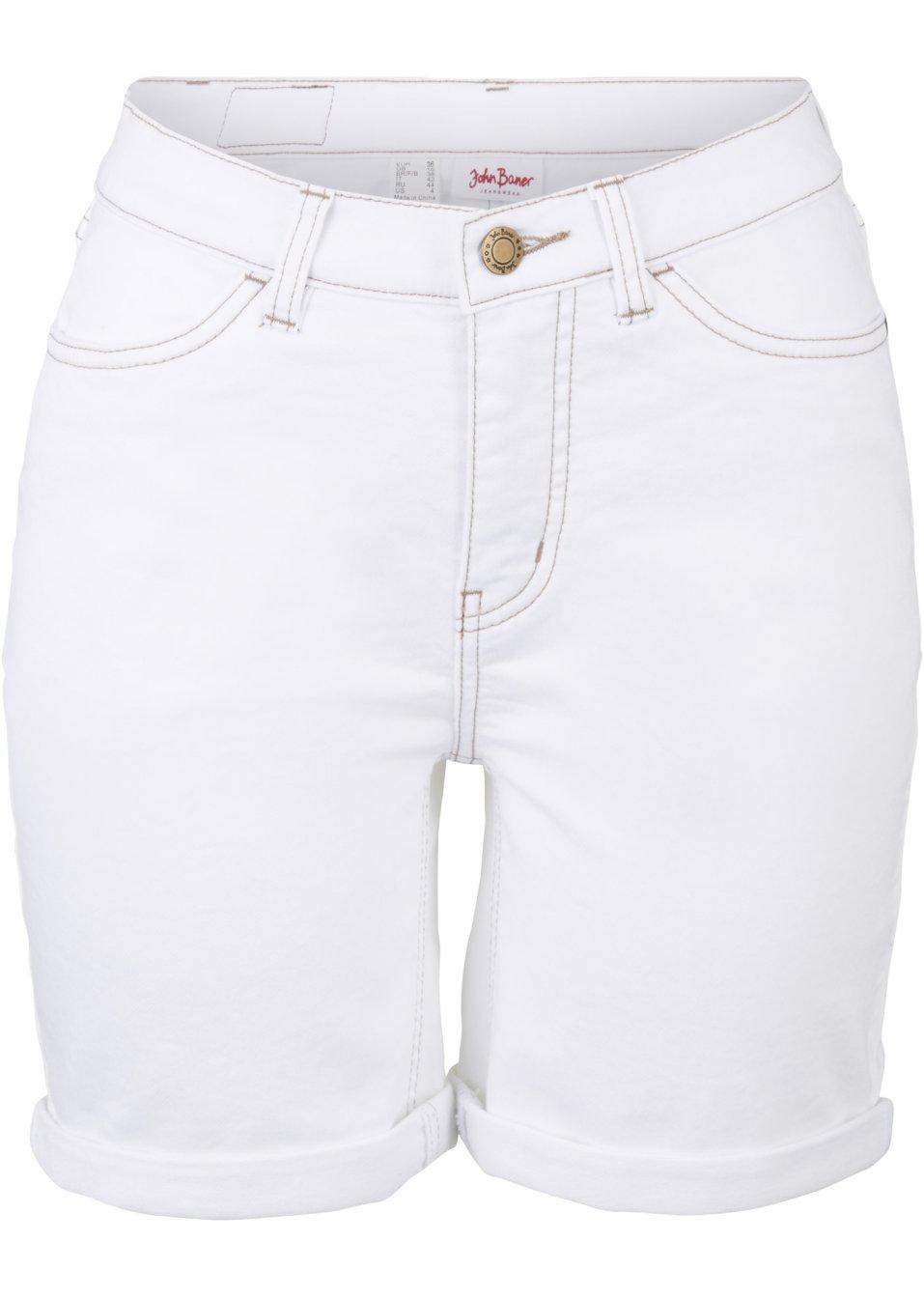 Jeans-Jogger Bermudalänge weiß - John Baner JEANSWEAR online kaufen - bonprix.de duGy5 yMdTH
