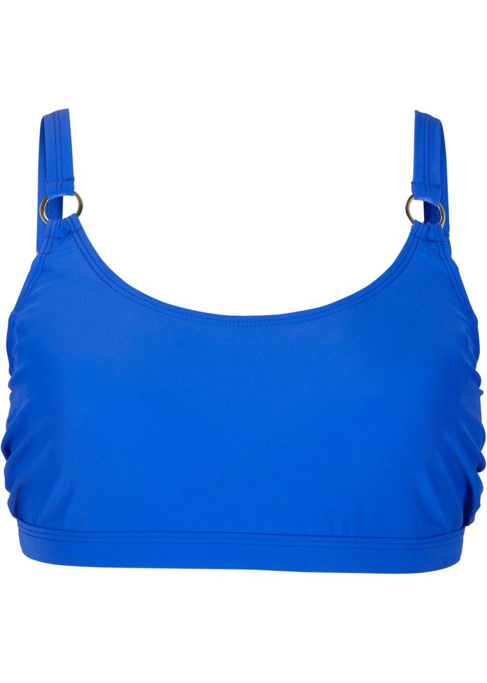Attraktives Bügel Bikini Oberteil mit verdeckten Bügeln - blau Cup E 3IbWb EtX7x