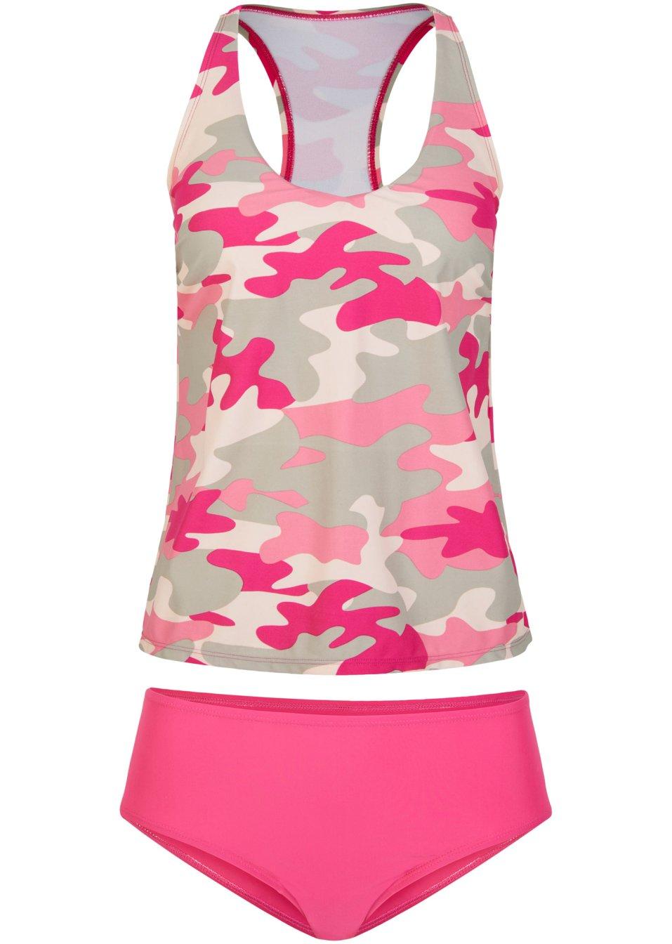Sportlicher Tankini mit Camouflage-Muster - pink bedruckt q7gIT 1ictp