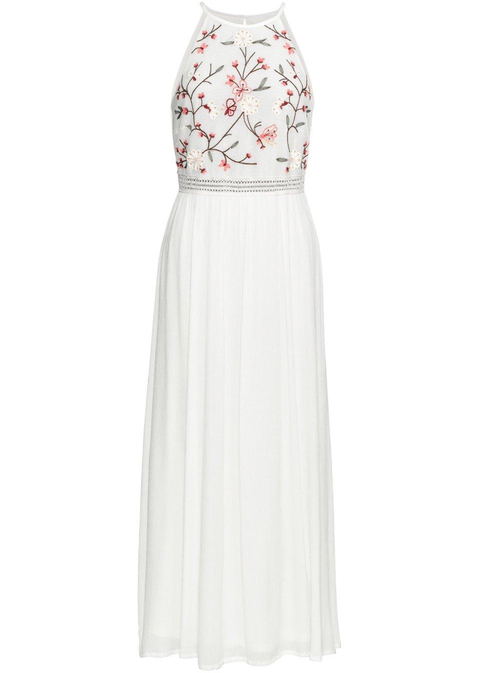 Attraktives Maxi-Kleid mit schmalen Trägern - wollweiß zwc54 wrUeW