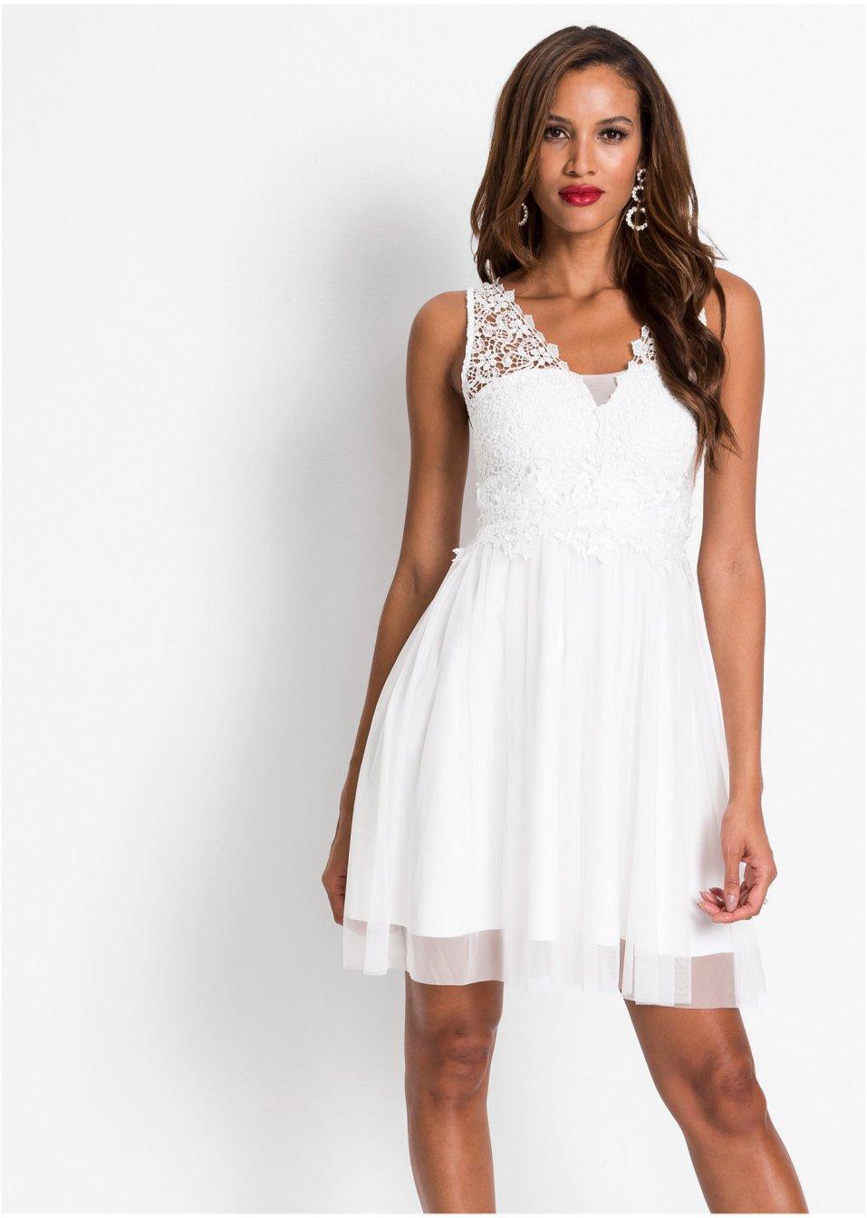 Kleid mit Spitze weiß - BODYFLIRT boutique - bonprix.de
