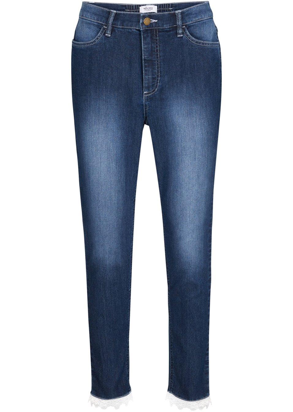 Modische Jeans mit Stretch- Qualität und formgebenden Nähten der aktuellen Maite Kelly Kollektion - dark denim used QGRLp gdGaL