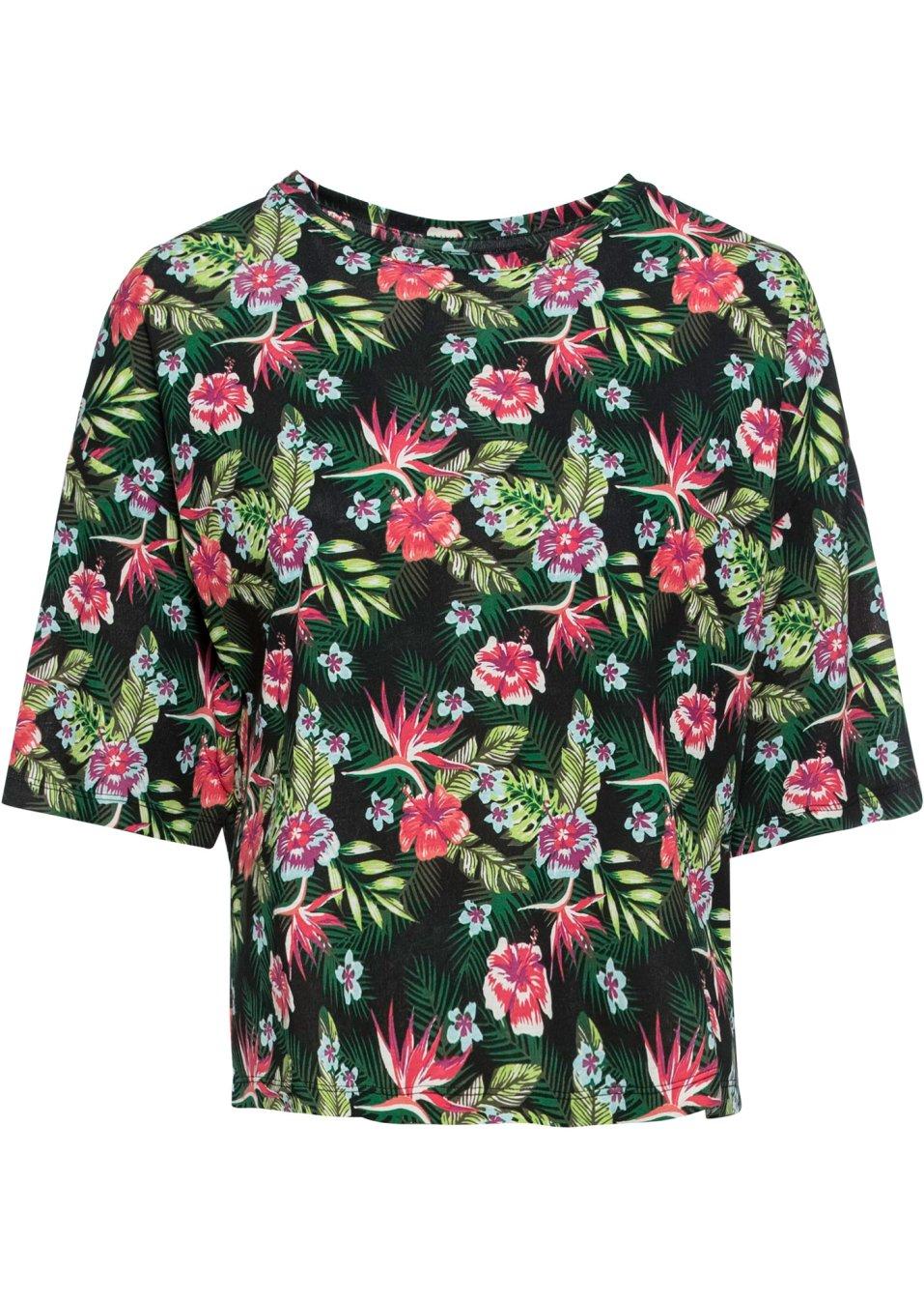 Oversize-Shirt schwarz geblümt - Damen - RAINBOW - bonprix.de 6B9Rk DhXoQ