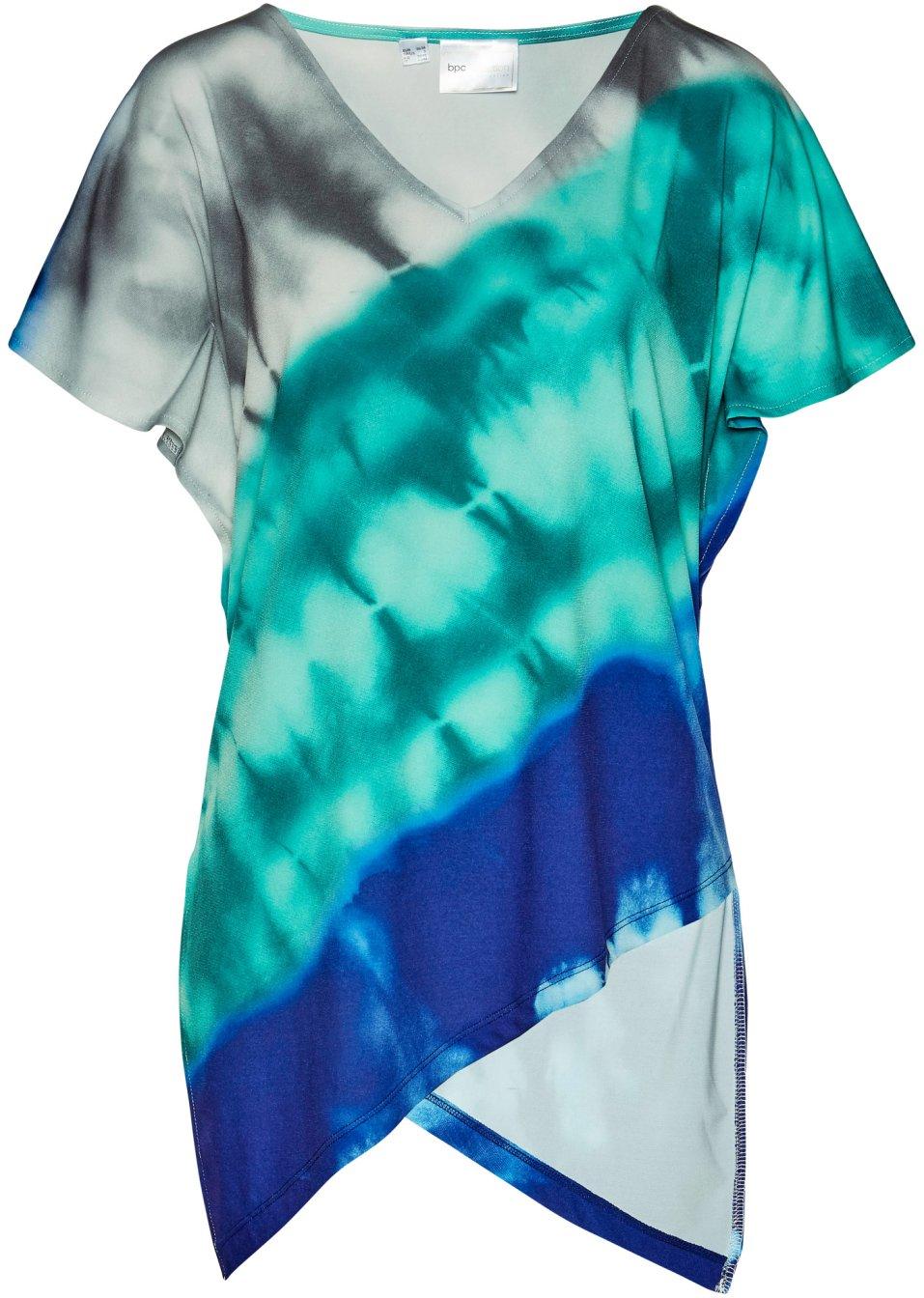 Jersey Tunika dunkelblau/mentholblau bedruckt - Damen - bpc selection - bonprix.de 0tctY Ef2iB