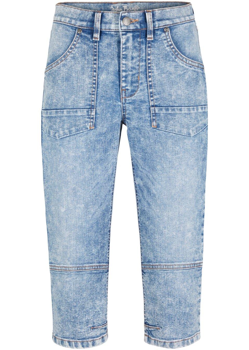 Stretch-Capri-Jeans hellblau - Damen - bonprix.de h8zbz 5F08D