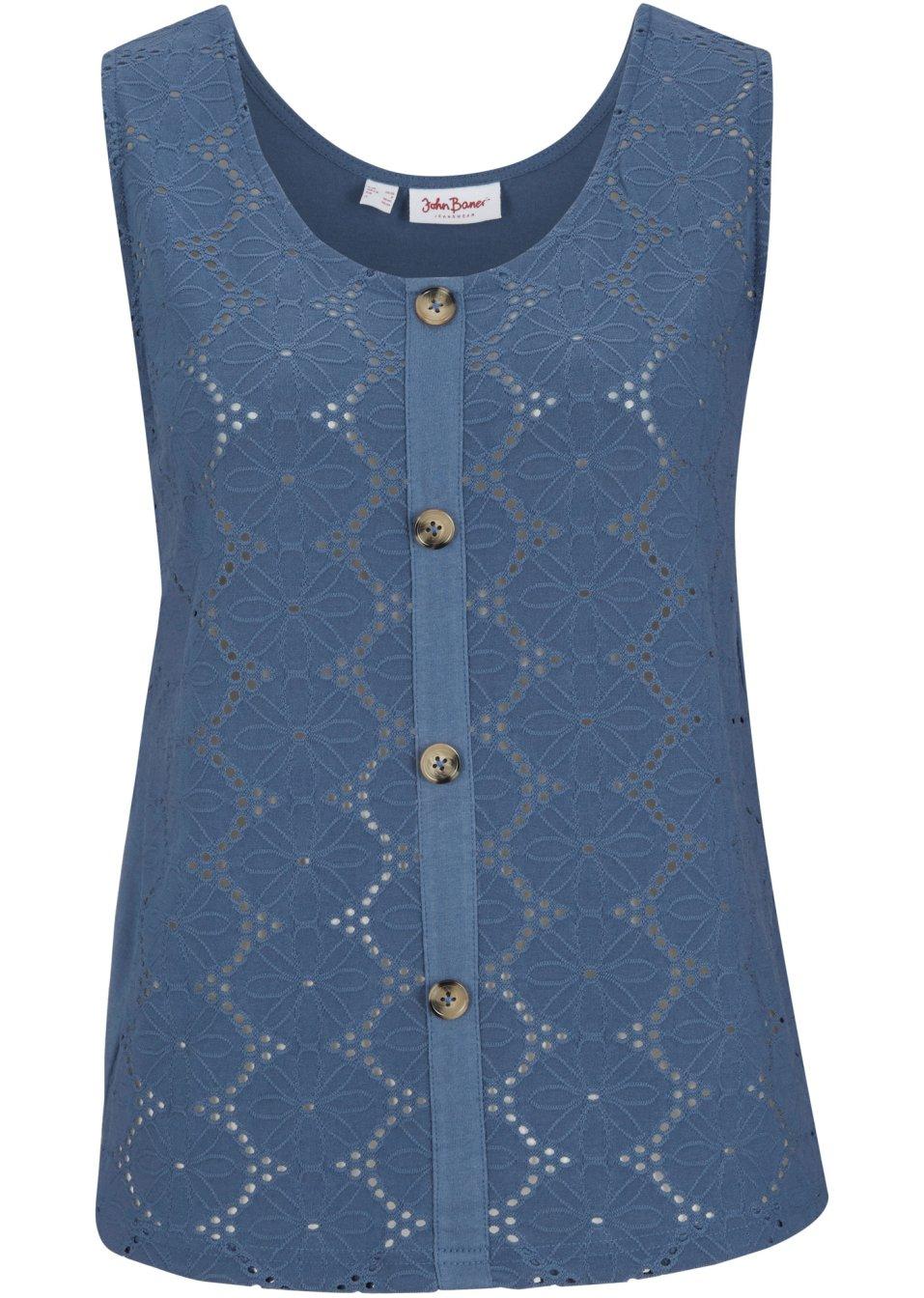 Shirttop mit Lochspitze indigo - Damen - John Baner JEANSWEAR - bonprix.de aRXpA fSlN4