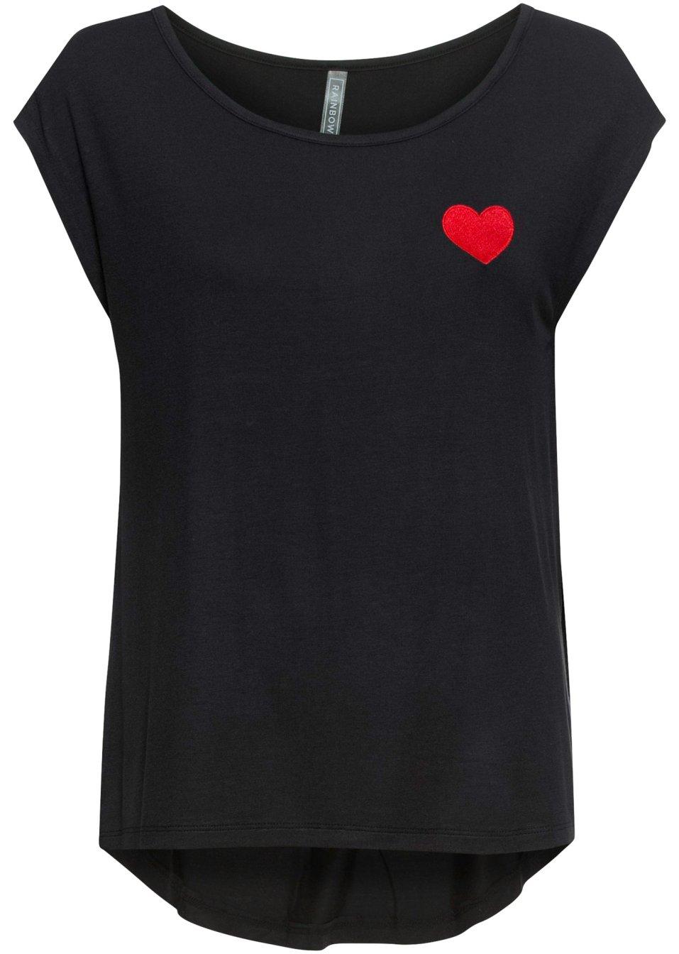 Shirt mit Stickerei schwarz - Damen - RAINBOW - bonprix.de d7BrC oIDGv