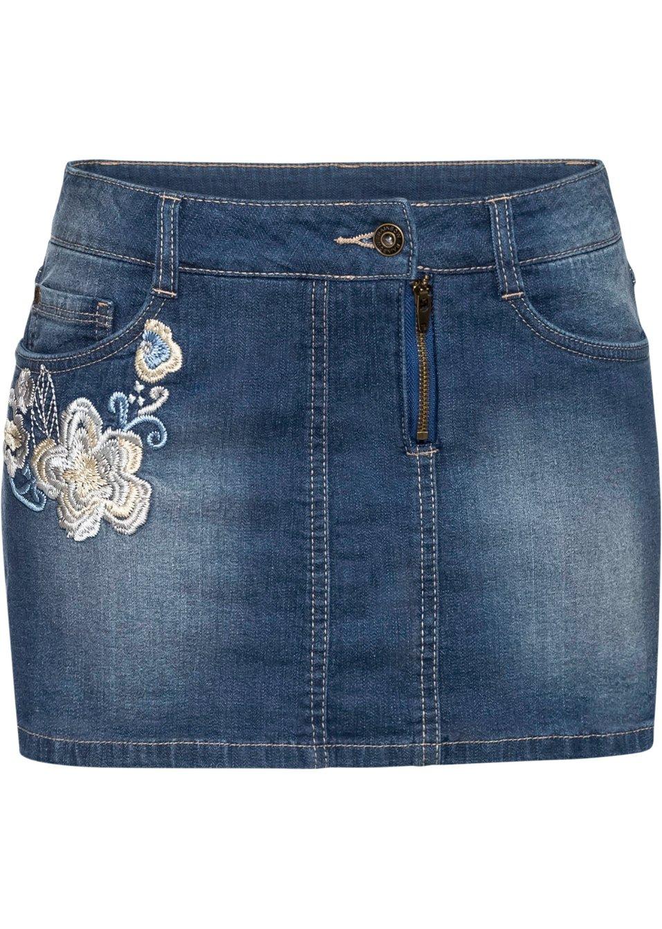 Jeans Hotpants in Rockoptik blue stone - RAINBOW - bonprix.de TWf4y b7I2n