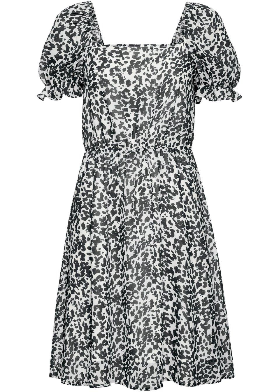 Schönes Kleid welches mit einem Futter unterlegt ist - schwarz/wollweiß gemustert ACyBX UeLgj