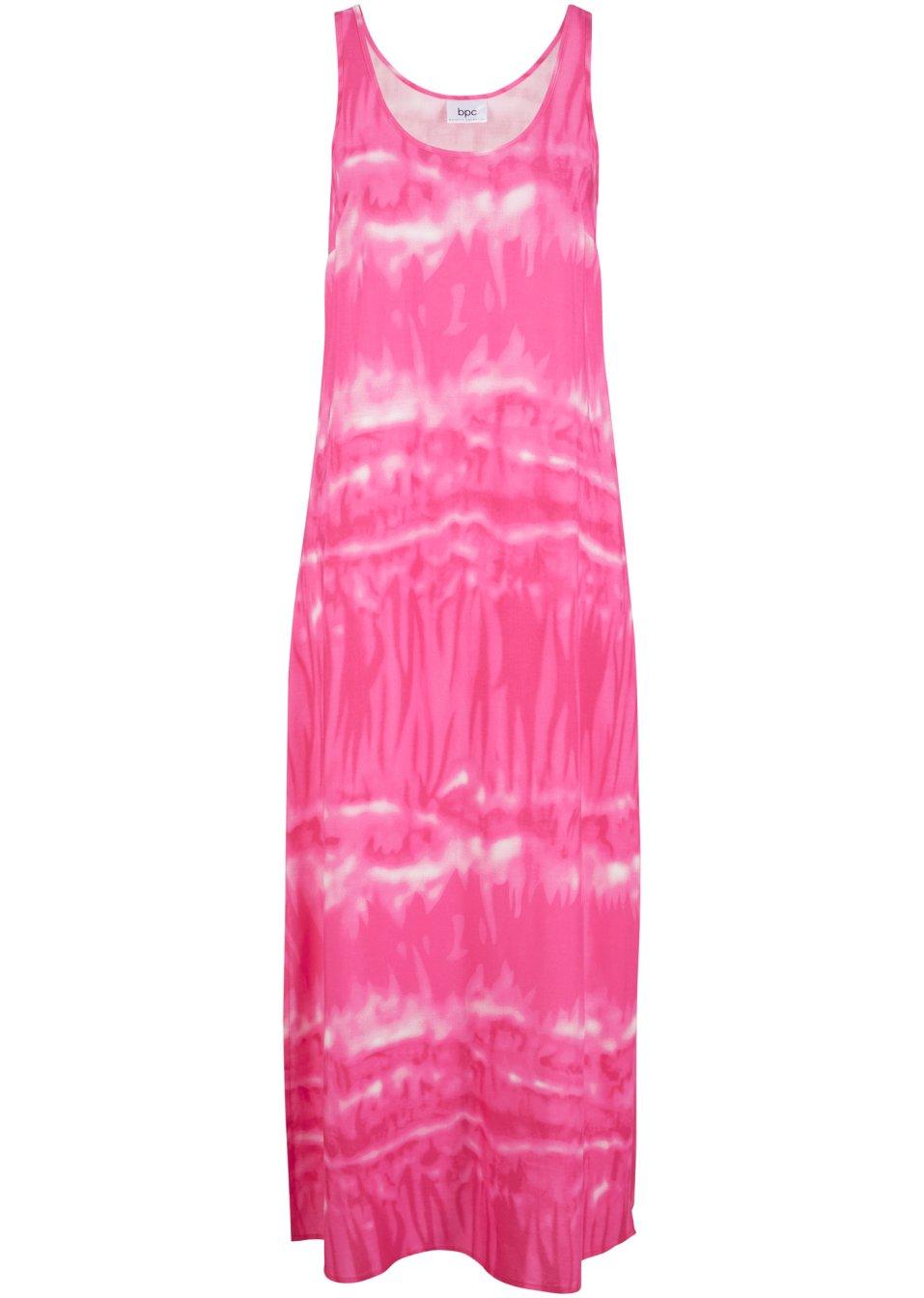 Schönes Kleid aus fließender Viskose mit Seitenschlitzen - hellfuchsia xnyMl eb6Vw