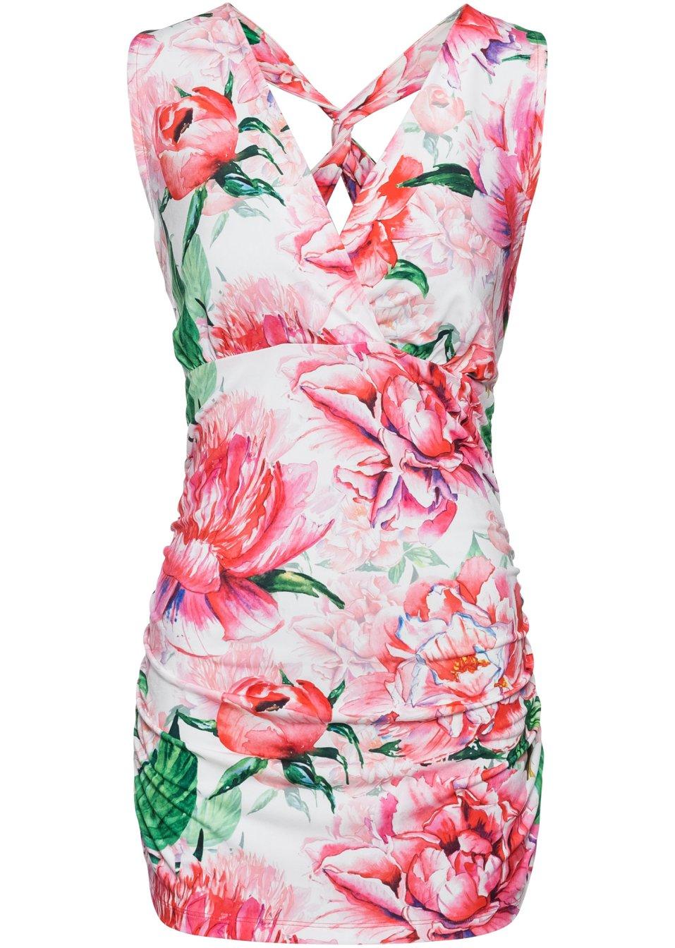 Top Blume rosa/weiß bedruckt - Damen - bonprix.de HlA9j 3Pgch