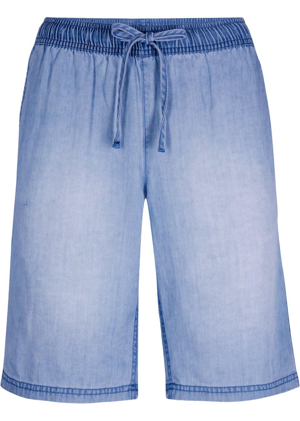 Vielseitig kombinierbare leichte Denim-Hose mit komfortablem Gummibund - blue bleached dnWGh YDE0O