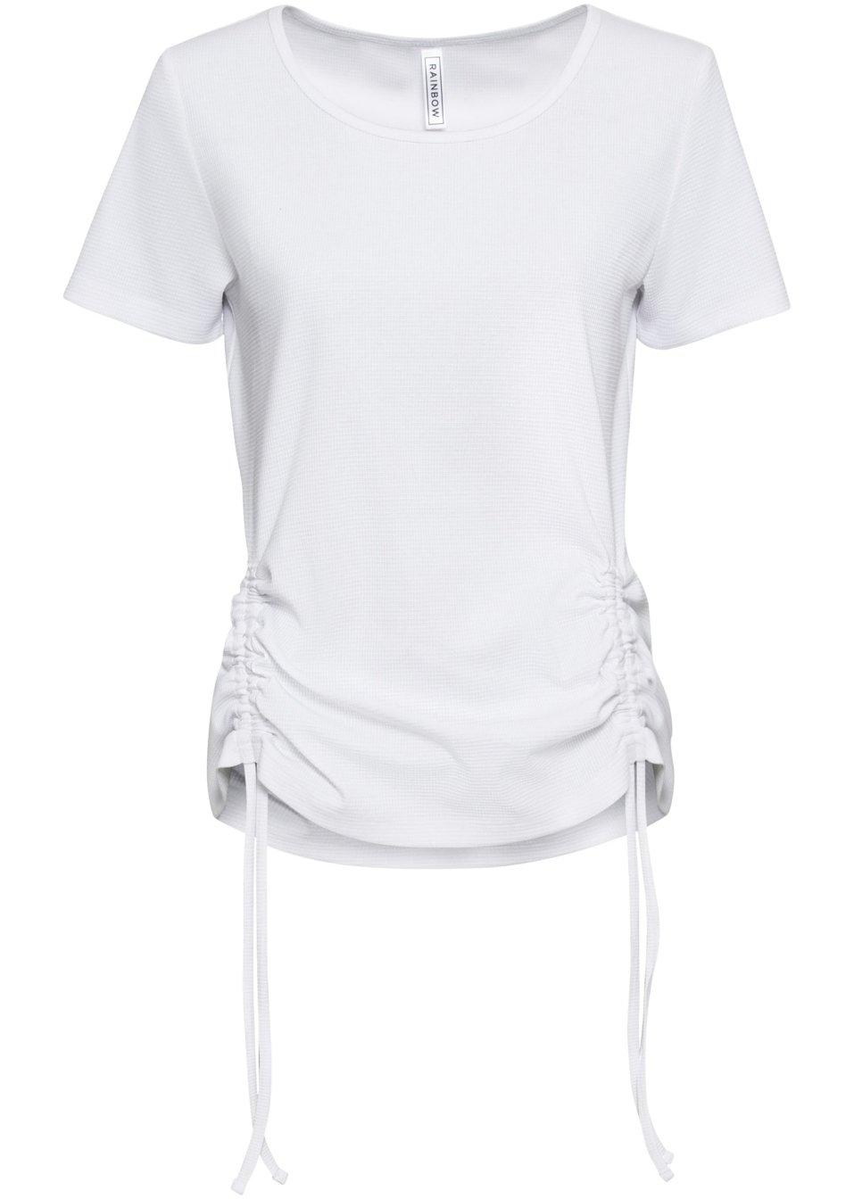 Shirt mit Raffung weiß - RAINBOW - bonprix.de OnmcJ 7mf3F