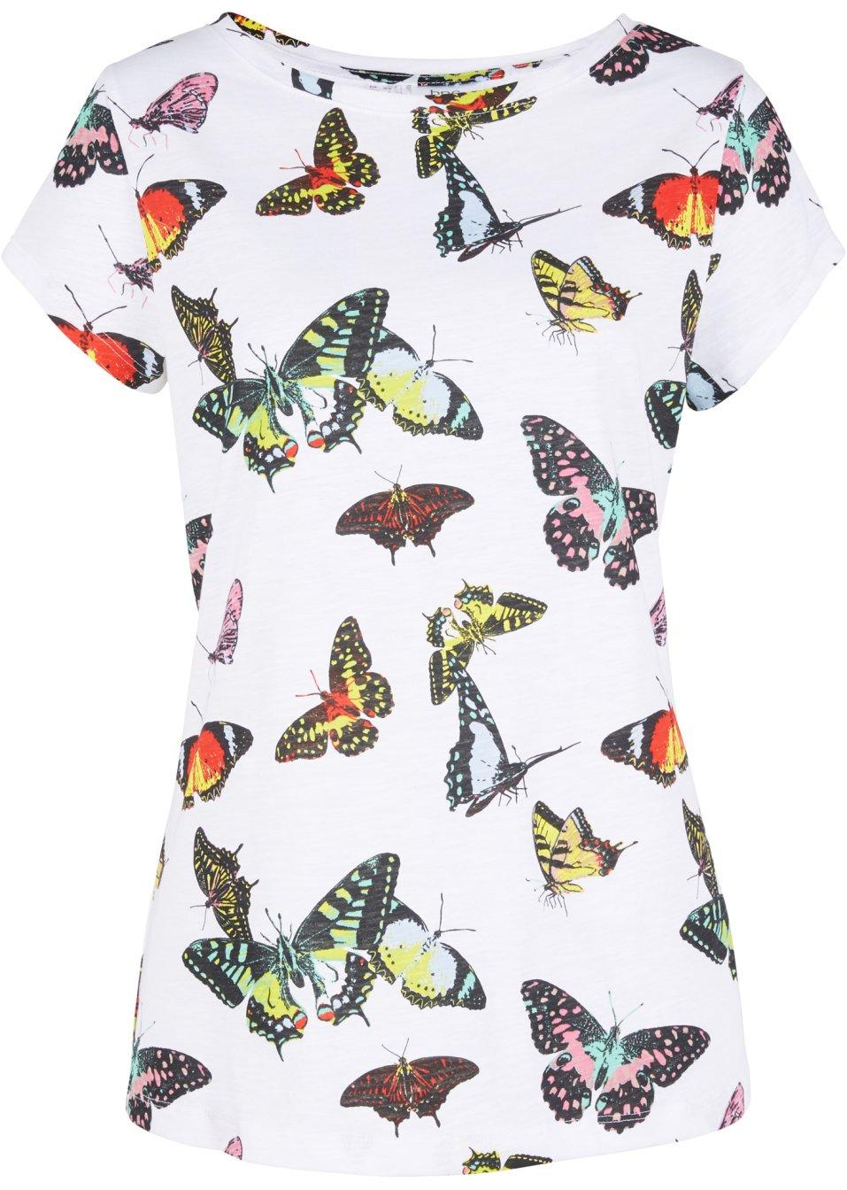 Shirt mit Druck kurzarm weiß bedruckt - Damen - bonprix.de Vouzd EmmQZ
