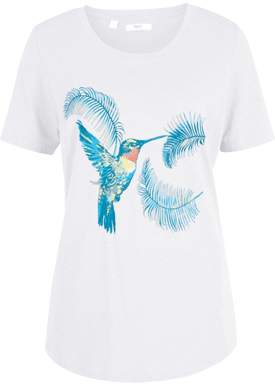 Gut kombinierbares Shirt mit tollem Druck aus 100% Baumwolle - weiß bedruckt mJnSn BQoz1