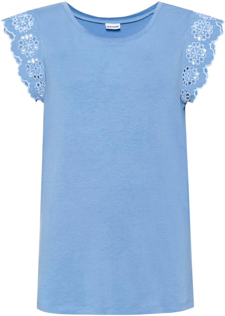 Shirt mit Spitze - blau XzOCt OjTuX