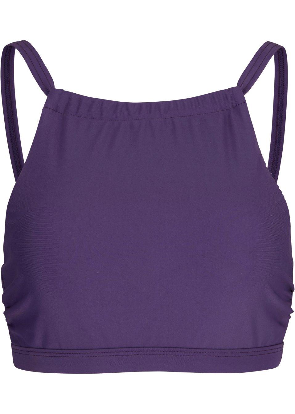 Schönes Bustier Bikini Oberteil aus schnelltrocknender Badeware - lila uni JqUBG 2UCuS