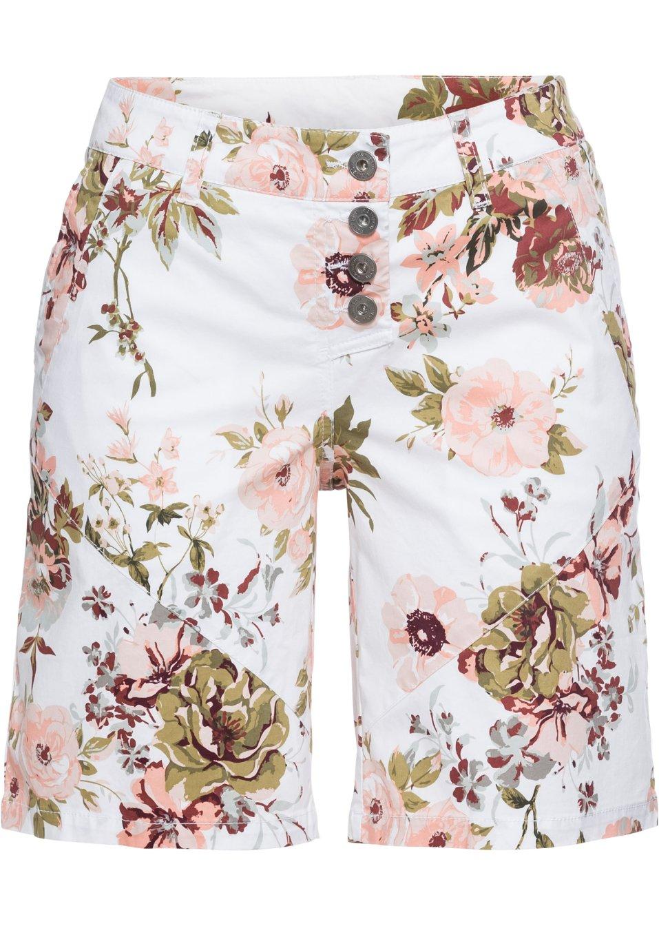 Shorts mit Knopfleiste weiß bedruckt - RAINBOW online bestellen - bonprix.de HD5Yr 8x9GV