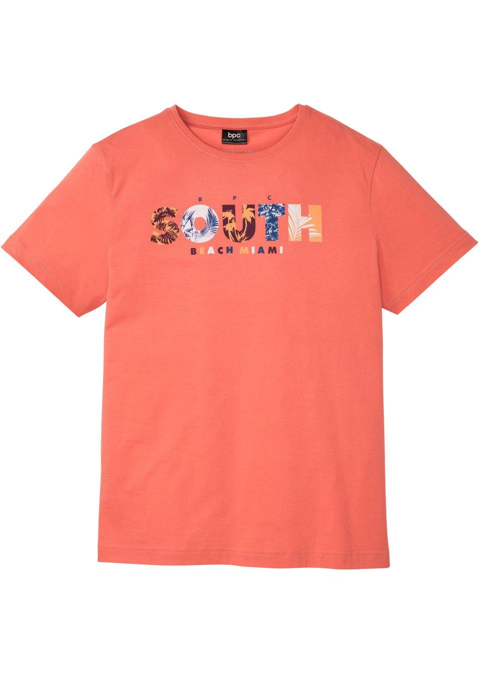 Modisches Herren T-Shirt mit Print - mandarine bedruckt Ra6wK wiEqs