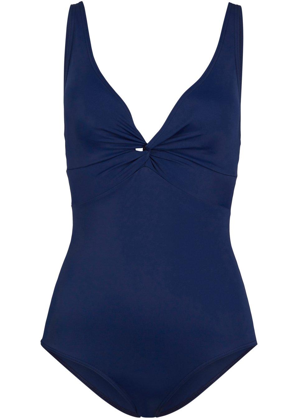 Eleganter Badeanzug aus nachhaltigem Econyl - dunkelblau yYDyg zYdmo