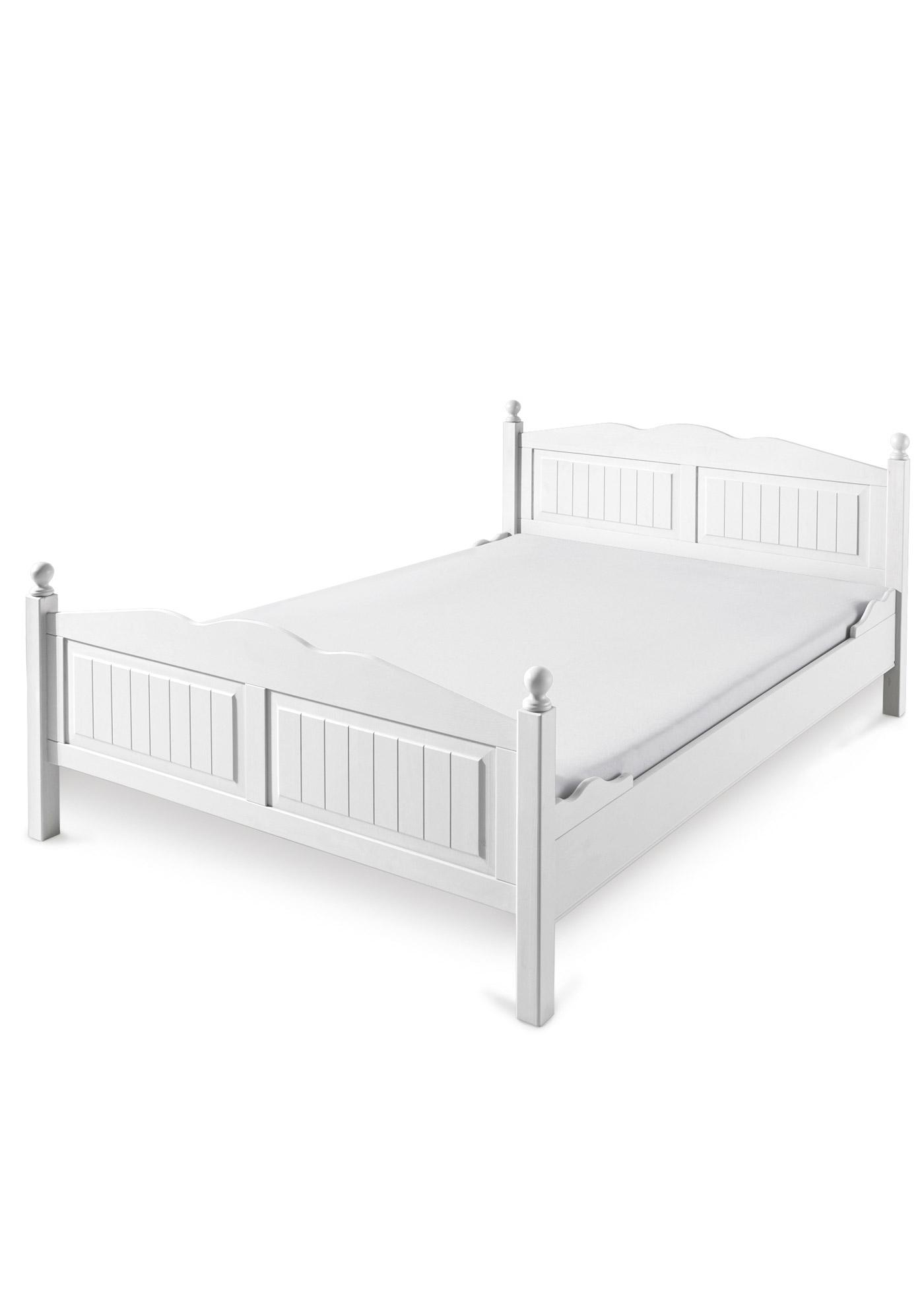 landhaus bett weiss 140x200 preisvergleiche erfahrungsberichte und kauf bei nextag. Black Bedroom Furniture Sets. Home Design Ideas