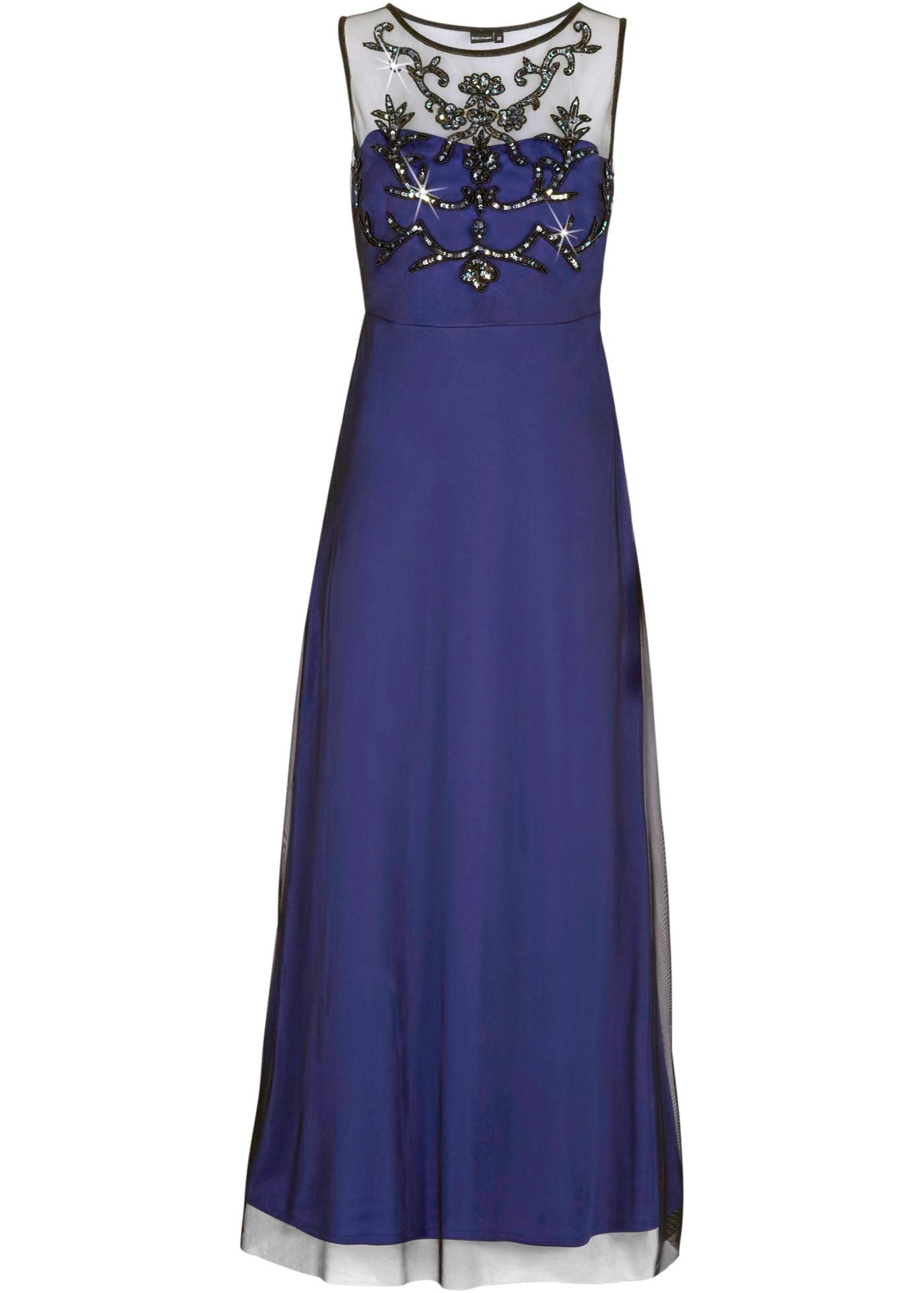 Bodyflirt Abendkleid ohne Ärmel  in blau (Rundhals) von bonprix