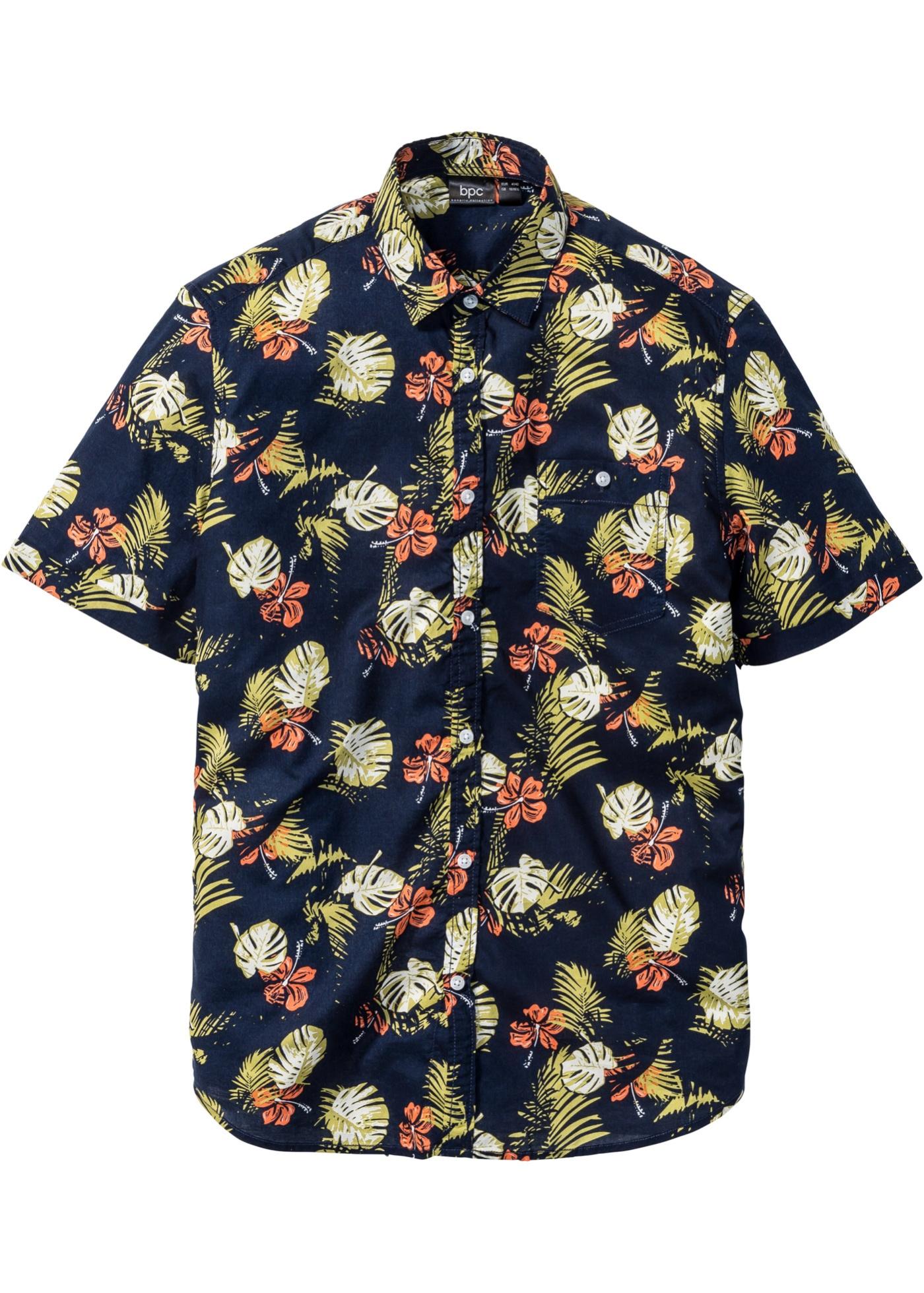 bpc bonprix collection Hawaii-Hemd Regular Fit kurzer Arm in blau von bonprix Herren Herrenbekleidung Herren Hemden Herren Hemd Kurzarm