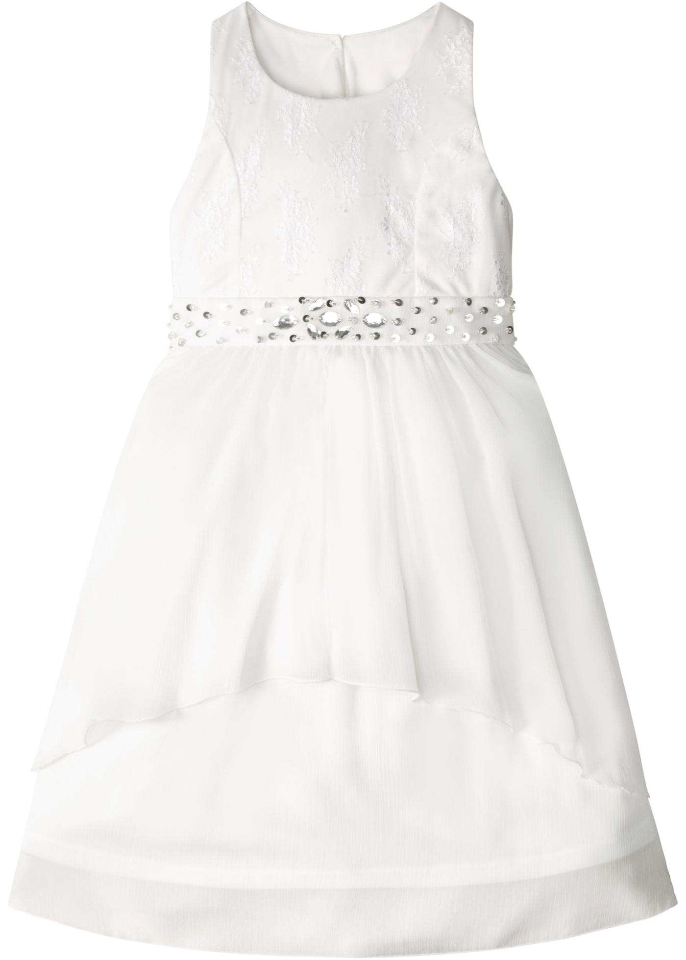 Bonprix Mädchen,Kinder Kleid mit Spitze und Pailletten | 08902497117686