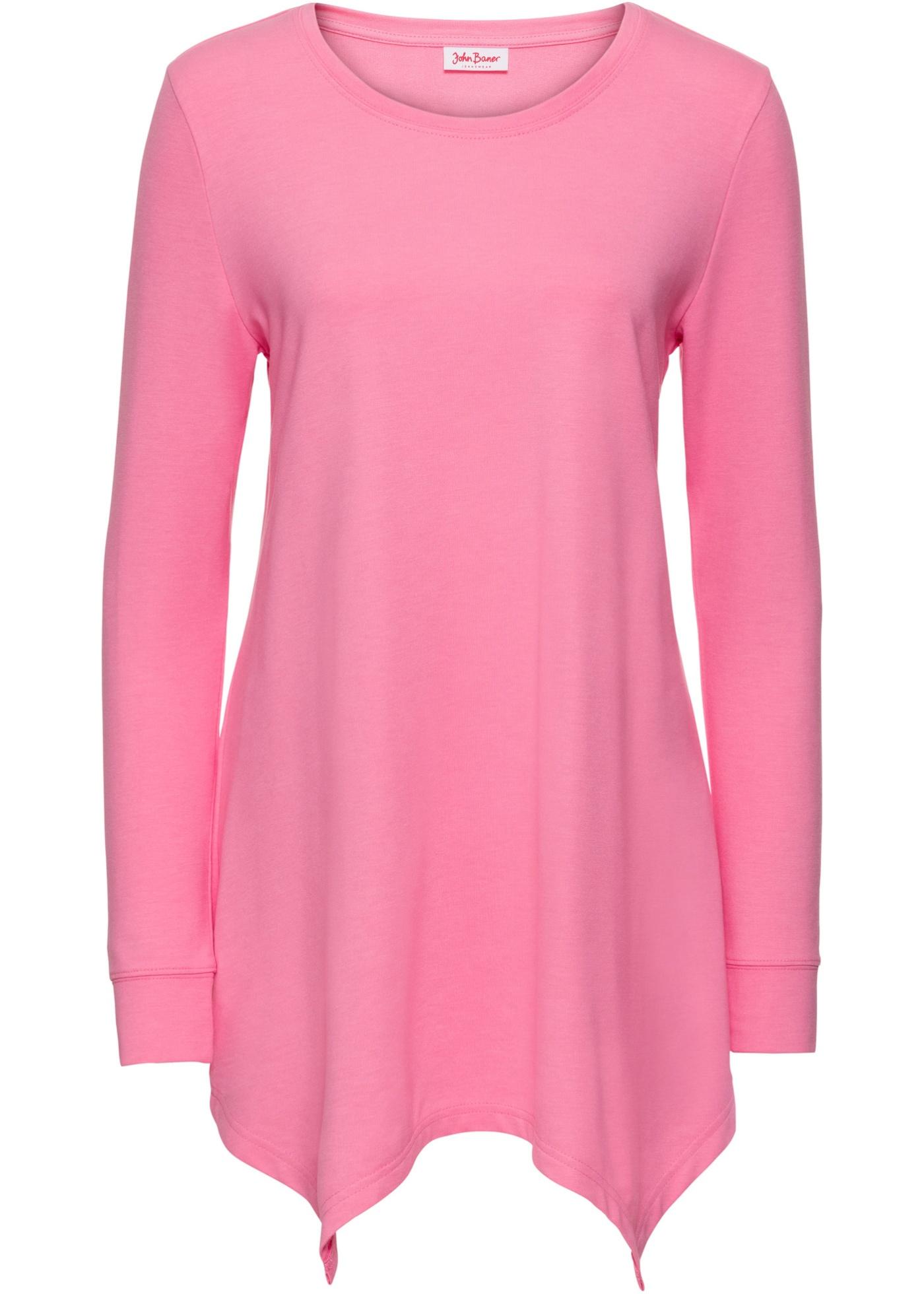 Langarm-Sweatshirt mit Zipfelsaum