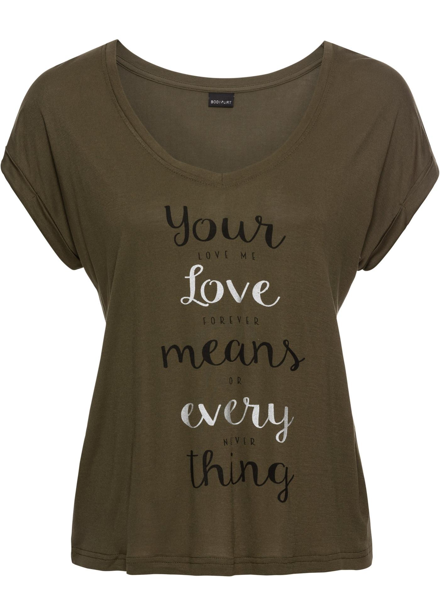 Boxy-Shirt mit V-Ausschnitt