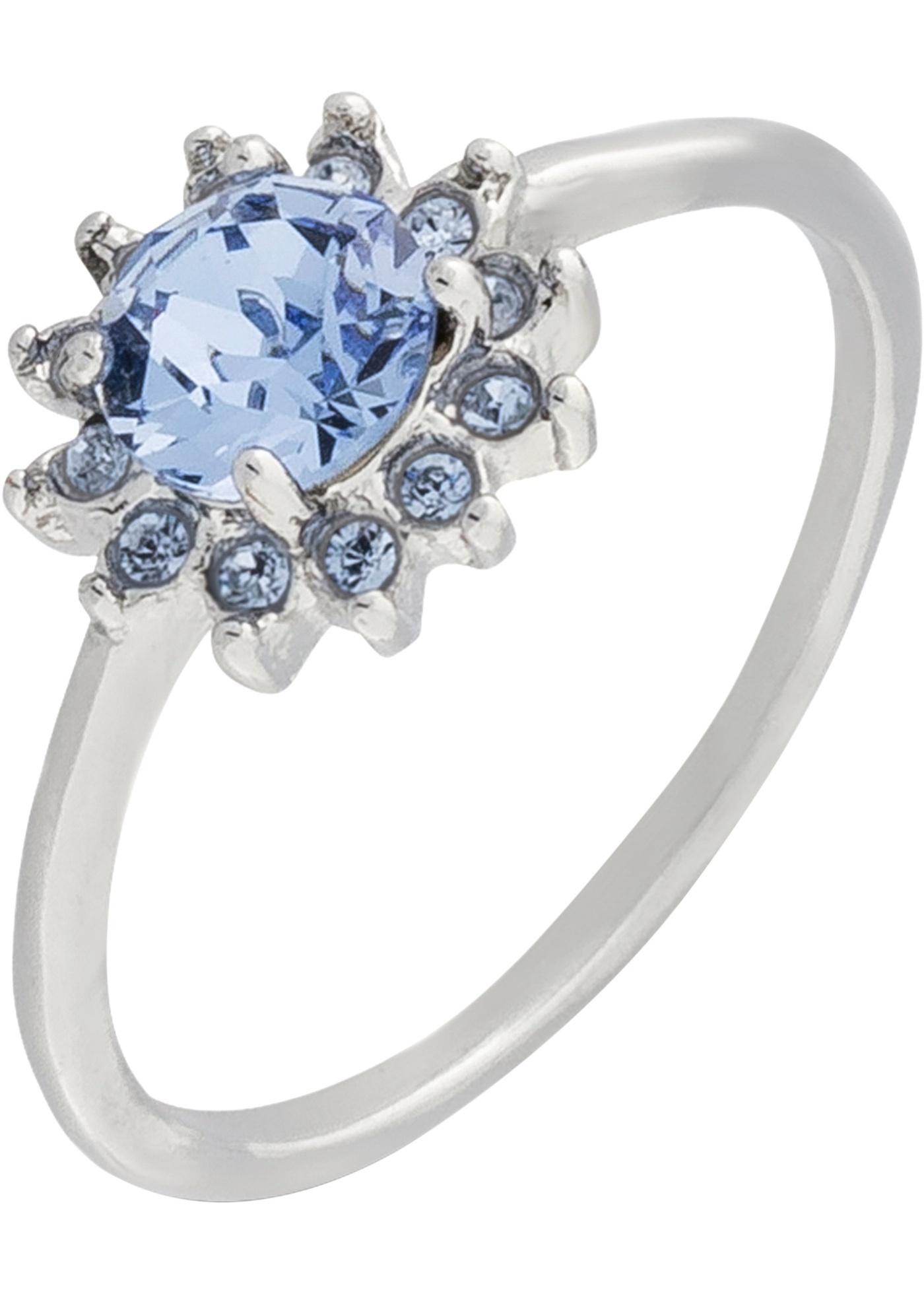 Ring mit Swarovski® Kristallen in silber für Damen von bonprix