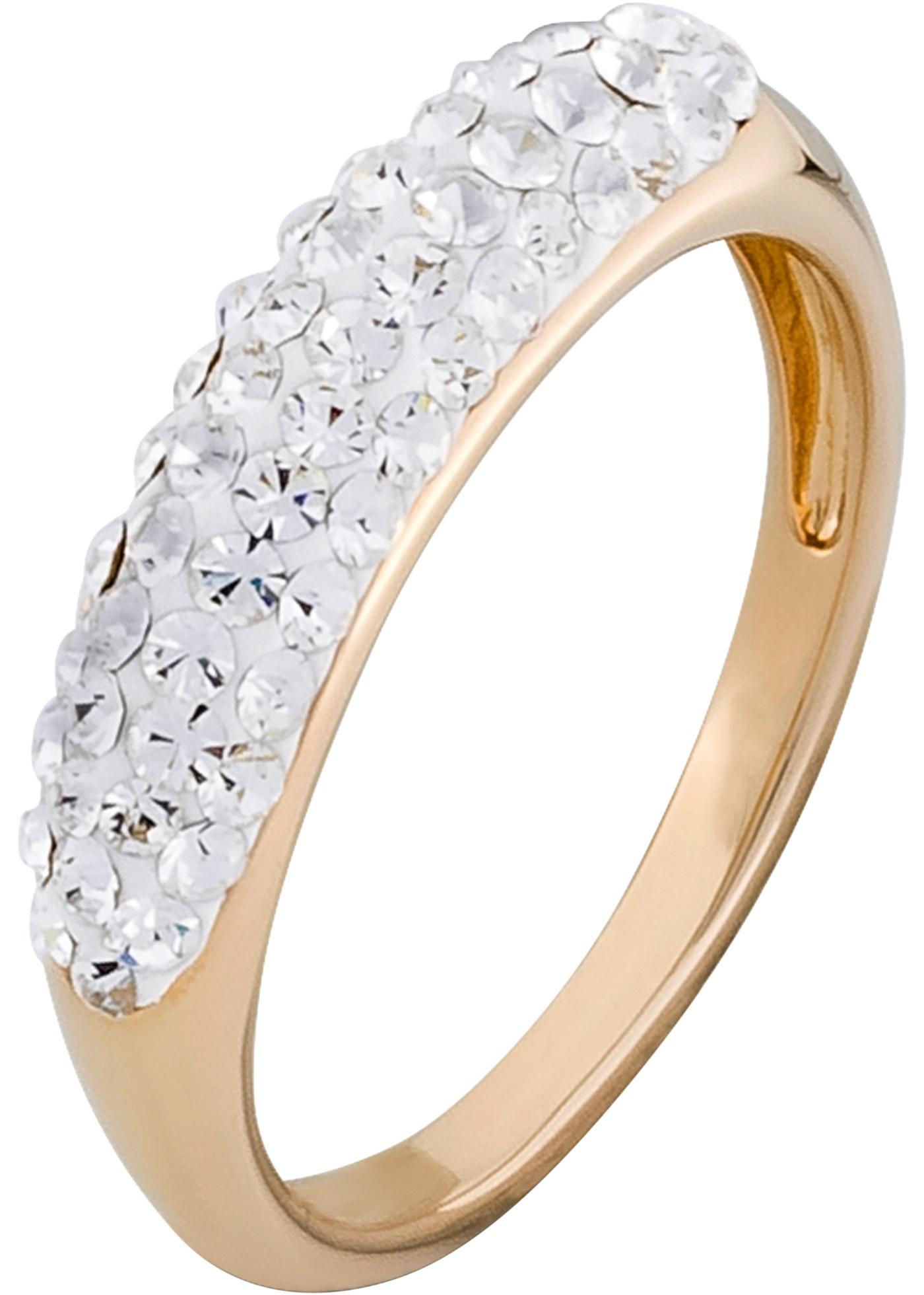 Ring mit Swarovski® Kristallen in gold für Damen von bonprix
