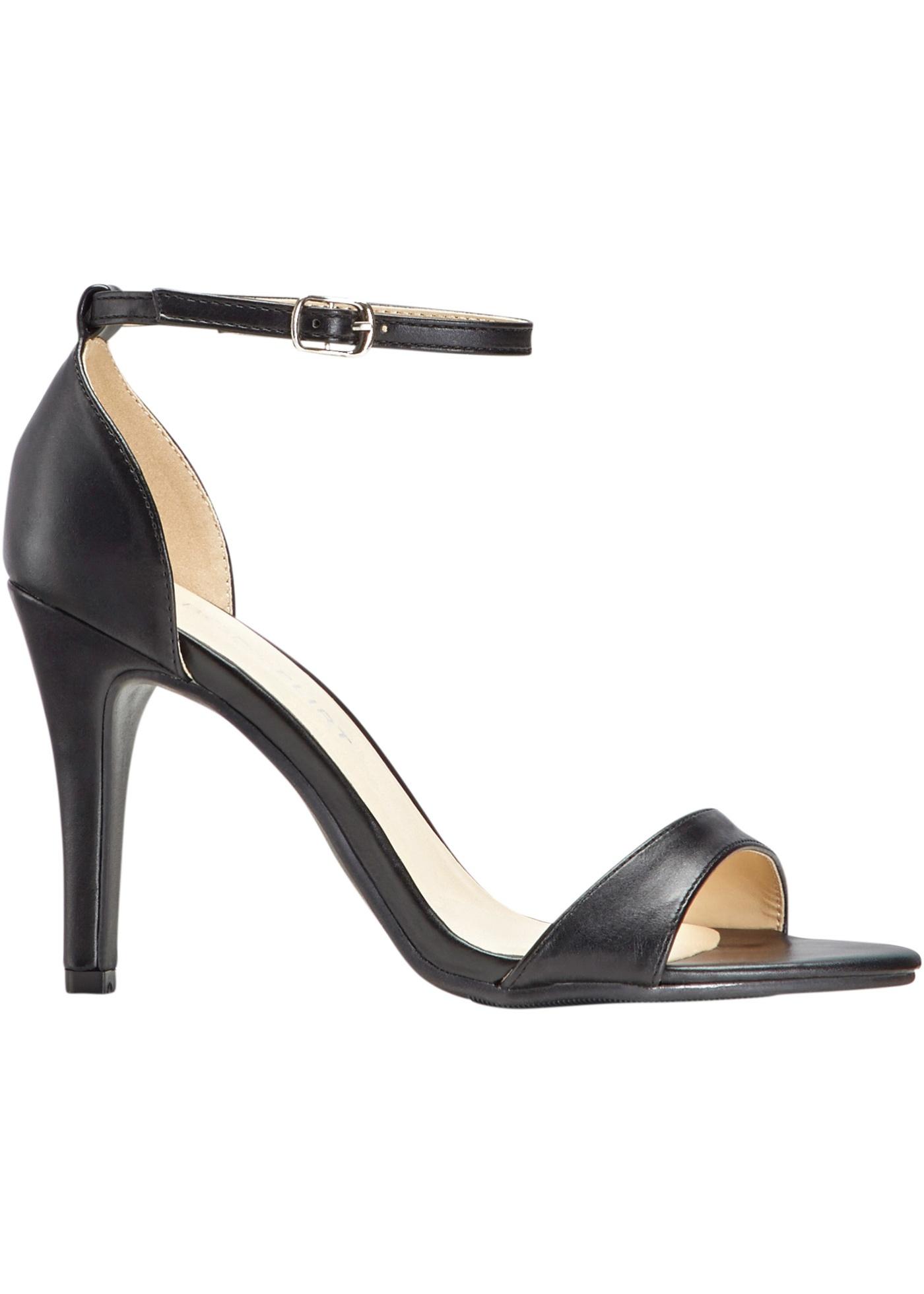 Sandalette mit 10 cm High-Heel in blau von bonprix