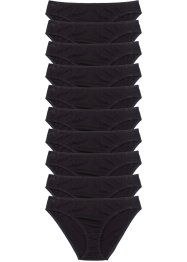 Slip (10er-Pack), bpc bonprix collection, schwarz