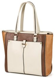Handtasche im Business-Stil, bpc bonprix collection, taupe multi