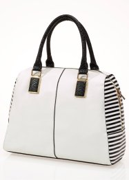 Handtasche, bpc bonprix collection, creme/schwarz