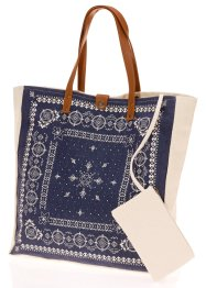 Canvas Shopper mit Ornamenten, bpc bonprix collection