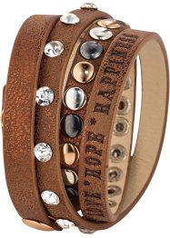 Nietenarmband, bpc bonprix collection, braun