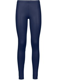 Legging wetlook, azul