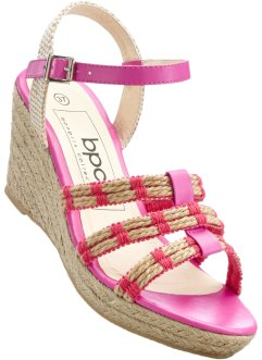 Keilsandale, bpc bonprix collection, mittelfuchsia