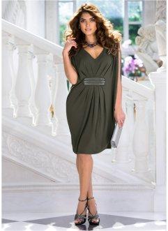 Vestido de malha premium com bordado