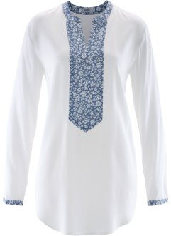 Lange Bluse mit Einsatz, bpc bonprix collection