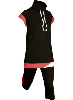 Modisches Longshirt mit Caprihose (2-tlg. Set), kurzarm, bpc bonprix collection
