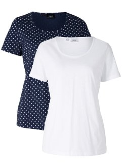 Shirt 2er-Pack, bpc bonprix collection