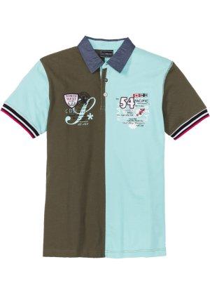 Bonprix Herren Colour-Blocking-Poloshirt Regular Fit | 08902658173162